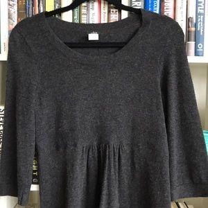 J. Crew Merino Cashmere charcoal sweater dress S